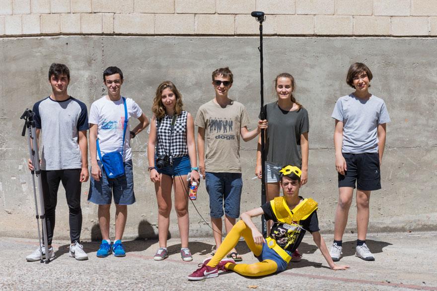 Grupo de Rodaje de clases de cine