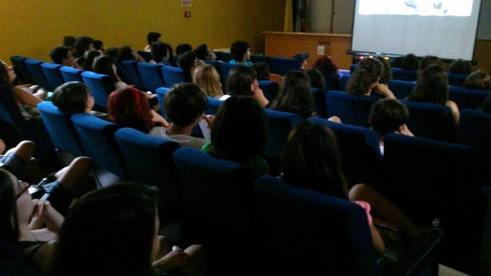 viendo cortos en el festival de cortometrajes de Zamora