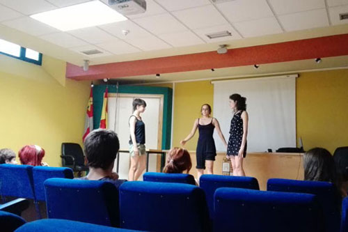 clase de teatro en Zamora