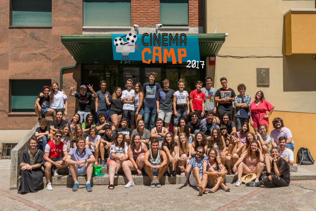Alumnos de Cinema Camp Zamora que han disfrutado de un verano de cine