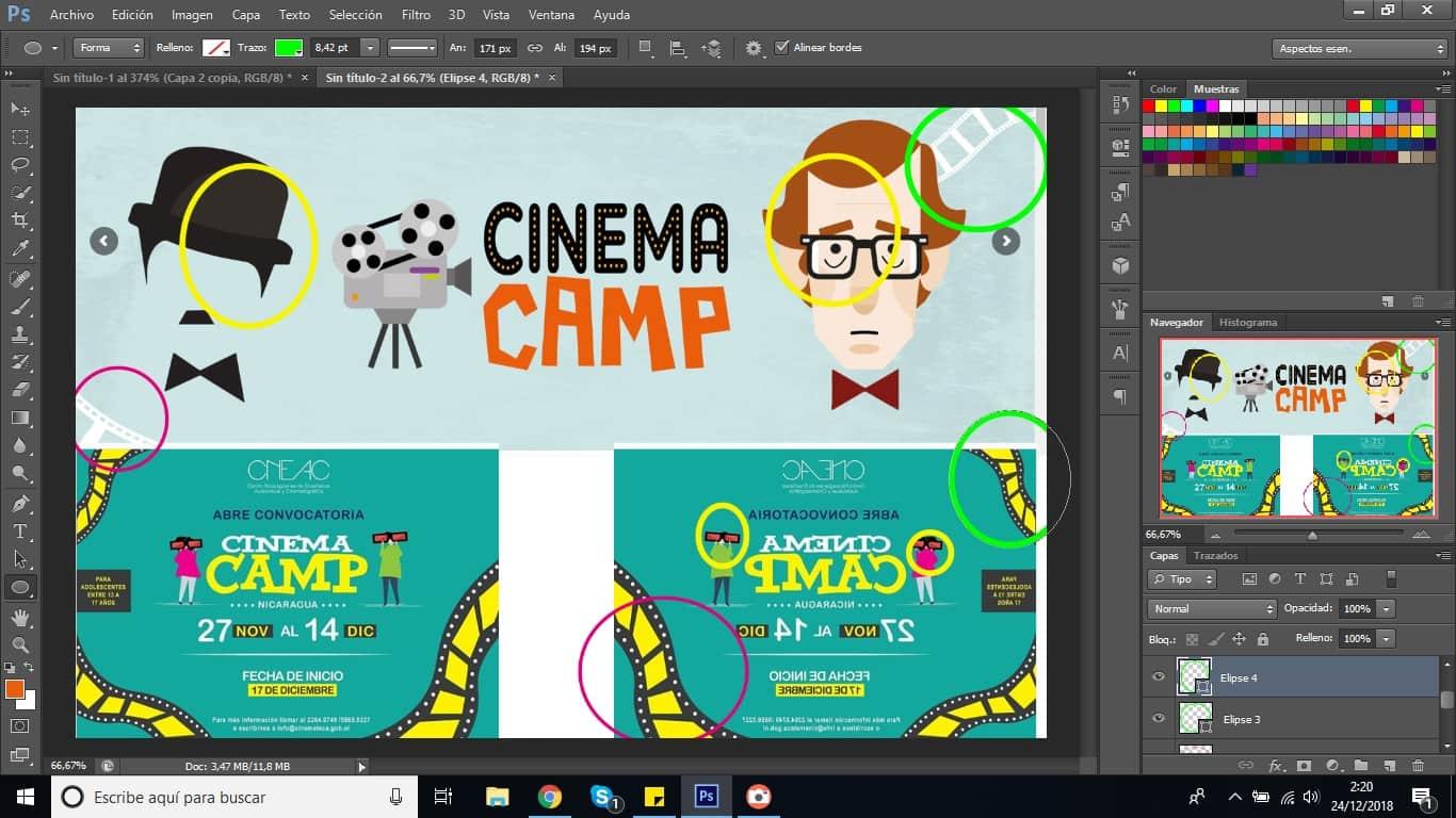 Comparativa entre Cinema Camp y Cinema Camp Nicaragua, ¿Coincidencia o Plagio?