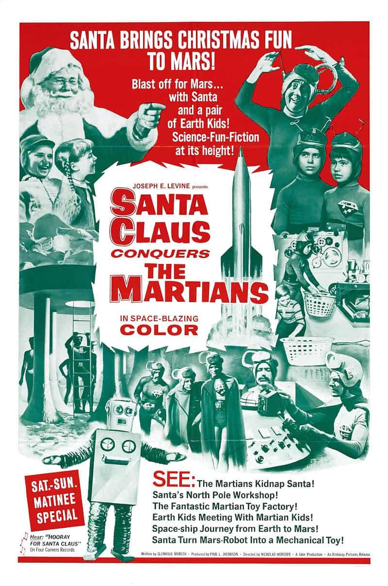 Poster Santa Claus conquista a los marcianos